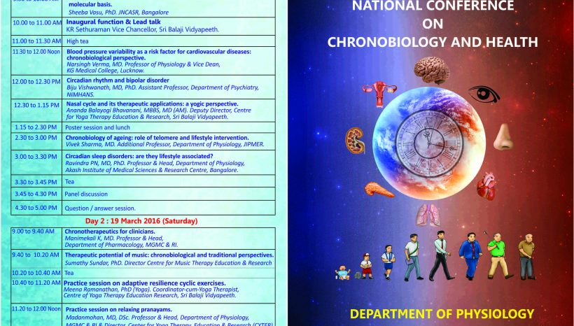 National conference on Chronobiology and health Invitation