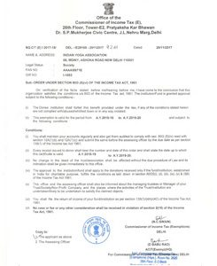 80G (5) (vi) of the income tax act, 1961