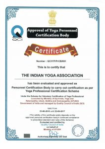 Approval of Yoga Personnel Certification Body