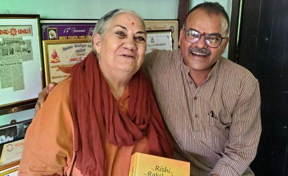 Srimati Meenakshi Devi Bhavanani during his visit to Pondicherry