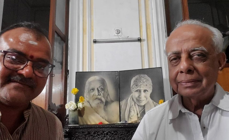 Raviji visited Sri Vijay Poddar ji, Sri Aurobindo Society