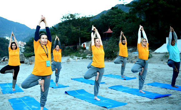 Successful Completion of Certification Course in Yoga by graduates from Sri Sri School of Yoga, Art of Living