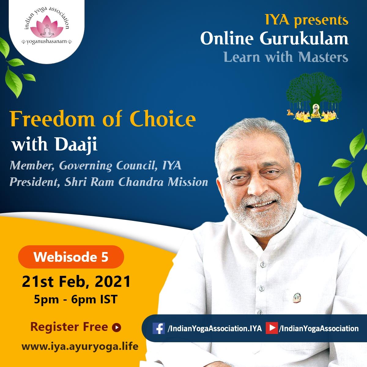 Daaji Kamlesh D. Patel, Member, GC, IYA