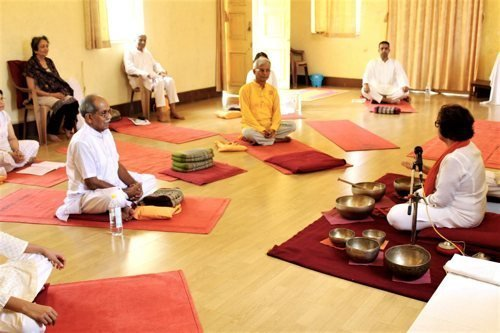 Healing through Sound Therapy – An experiential workshop of healing sounds with Tibetan Singing Bowls, Toning, breathwork & Mudras.