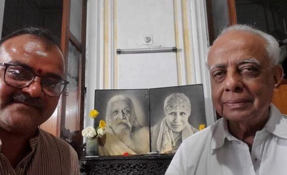 Raviji visited Sri Vijay Poddar ji, Sri Aurobindo Society