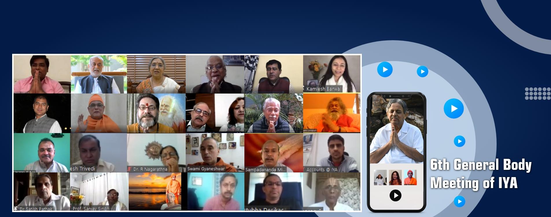 6th General Body Meeting of IYA-202
